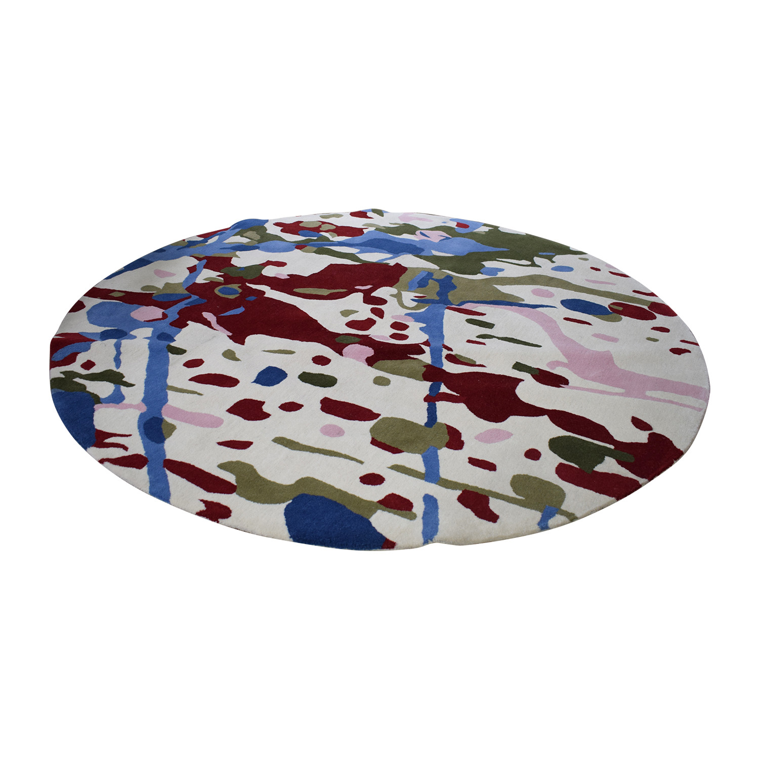 shop Obeetee Round Handtufted Multi-Colored Rug Obeetee Sofas