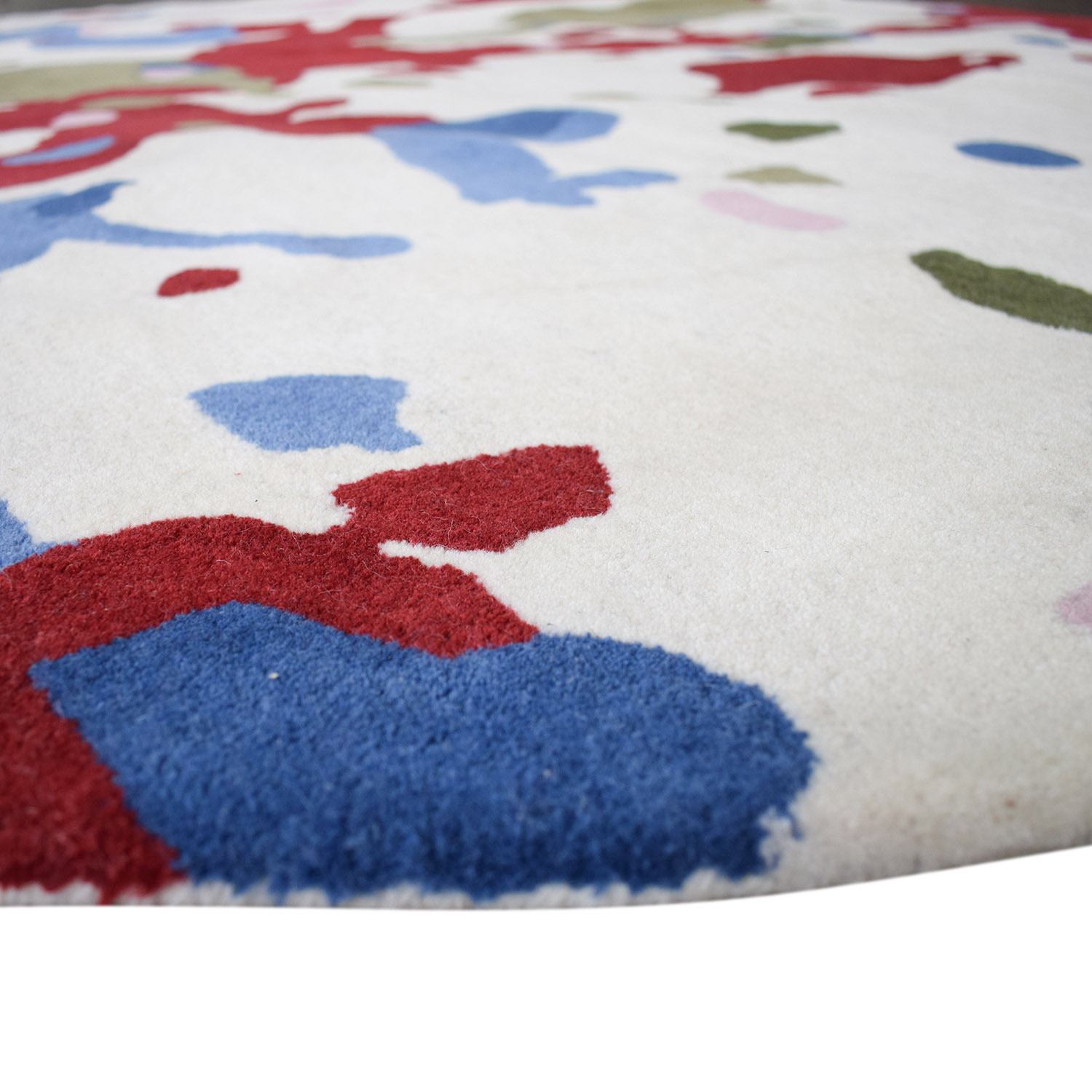 Obeetee Obeetee Round Multi-Colored Handtufted Rug dimensions
