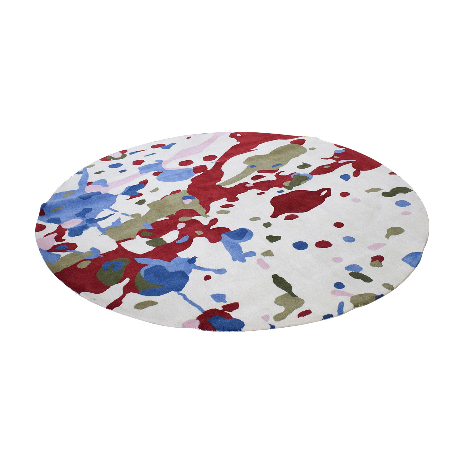 Obeetee Obeetee Round Multi-Colored Handtufted Rug coupon