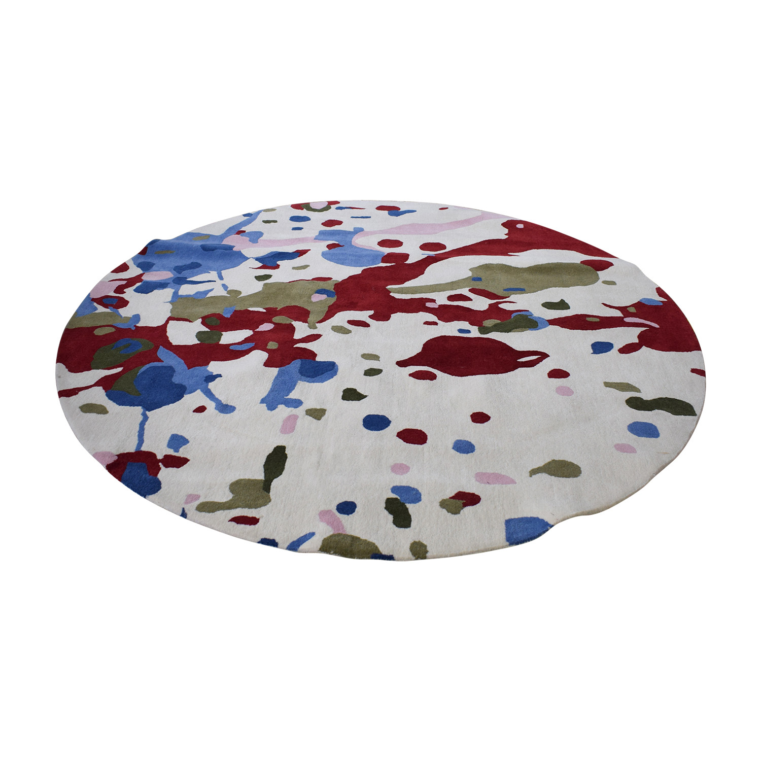 Obeetee Obeetee Round Multi-Colored Handtufted Rug discount