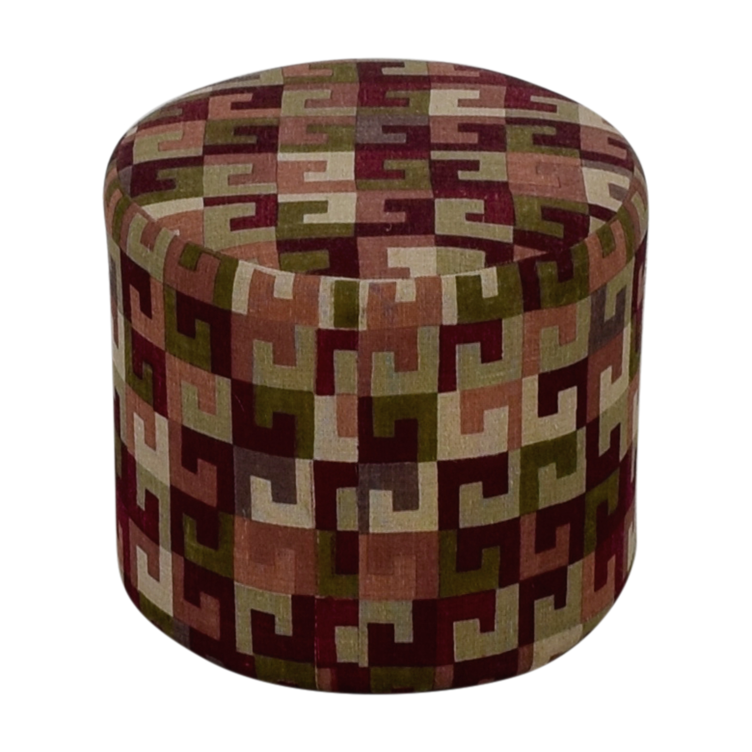 Manor and Mews Manor and Mews Round Burgundy Pouffe Sofas
