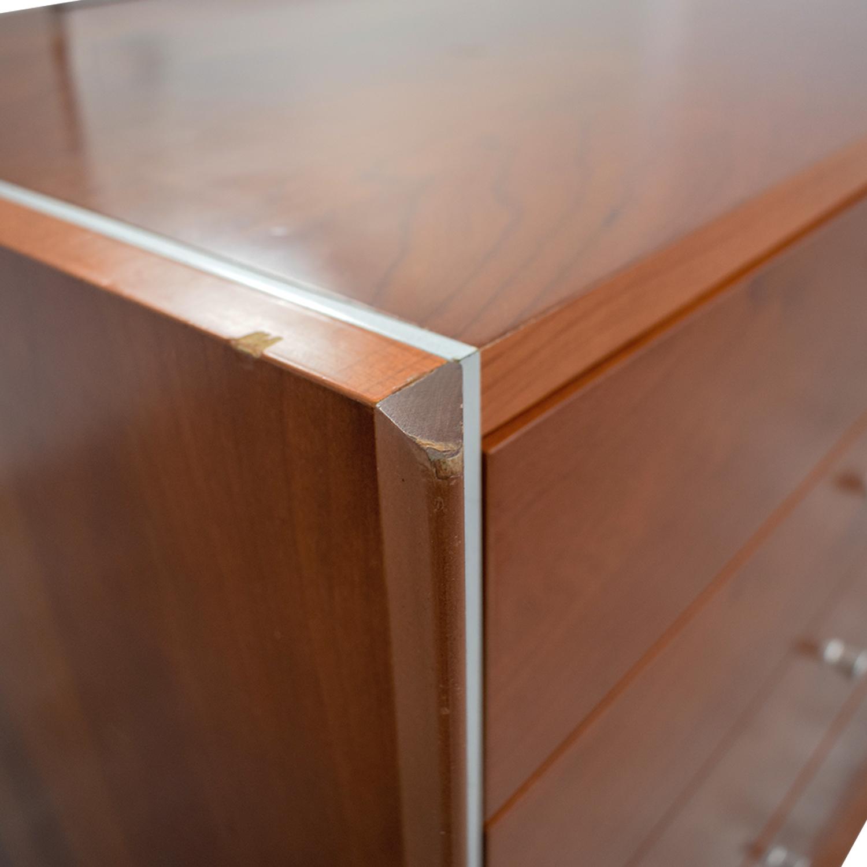 Modern Silver Trimmed Dresser with Mirror second hand