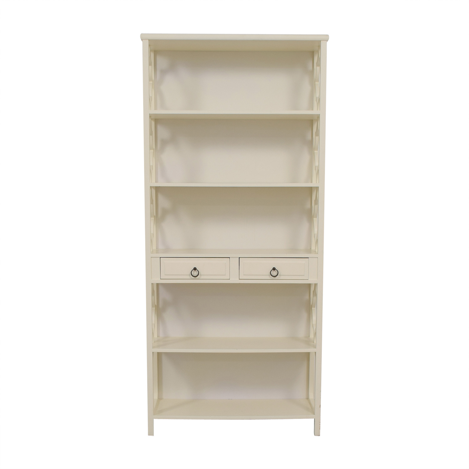 Serena & Lily Serena & Lily Hollywood Regency White Bookcase on sale