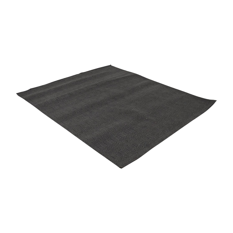 Obeetee Obeetee 4x5 Polyester Indoor Outdoor Flatweave Rug used