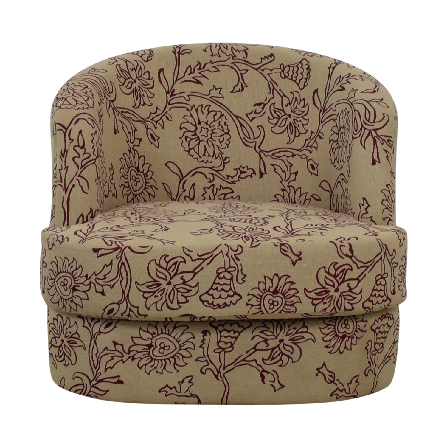 Manor and Mews Rita Floral Circular Armchair / Accent Chairs