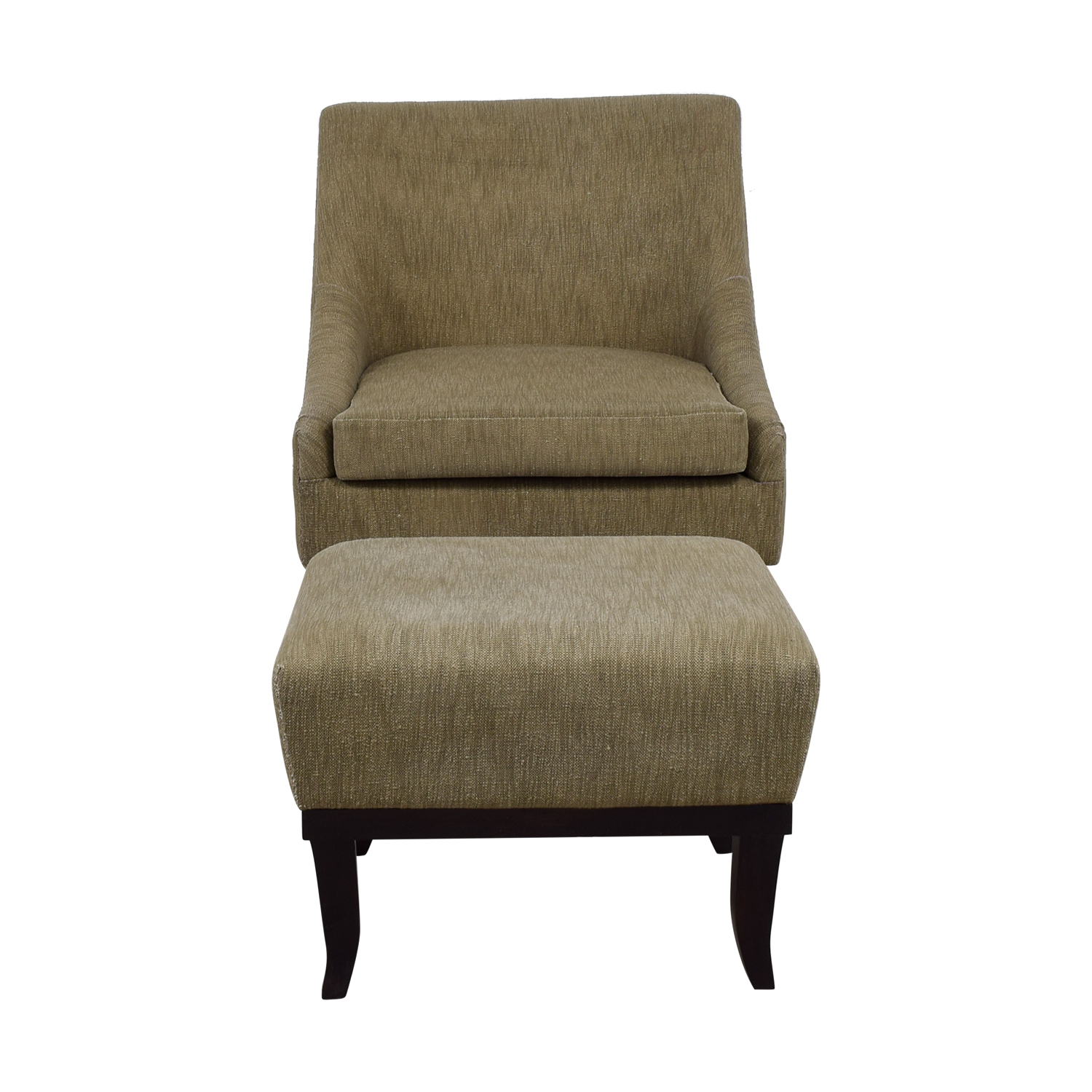 Manor and Mews Cary Grey Armchair and Foot Stool sale