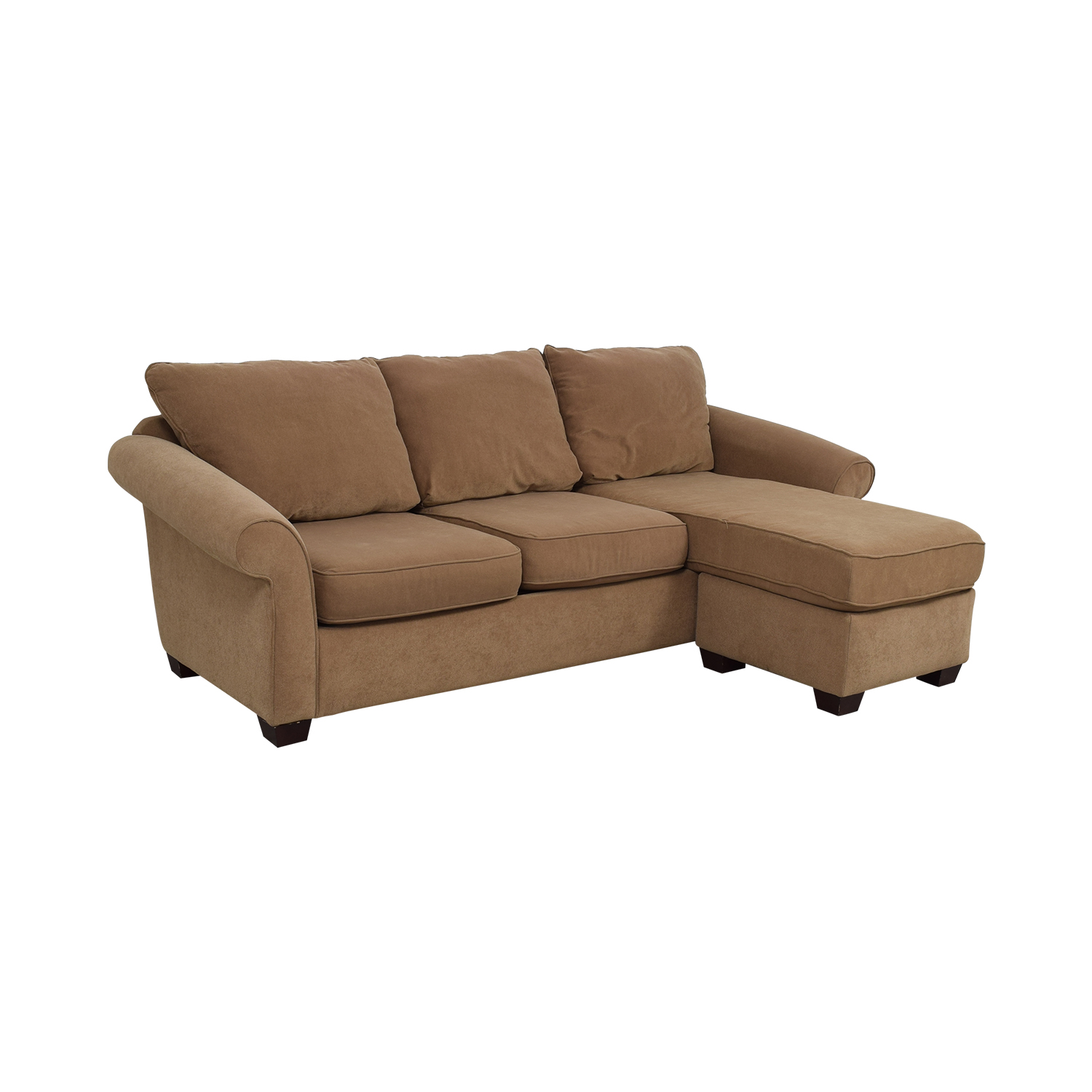 87% OFF - Costco Costco Brown Chaise Sectional / Sofas