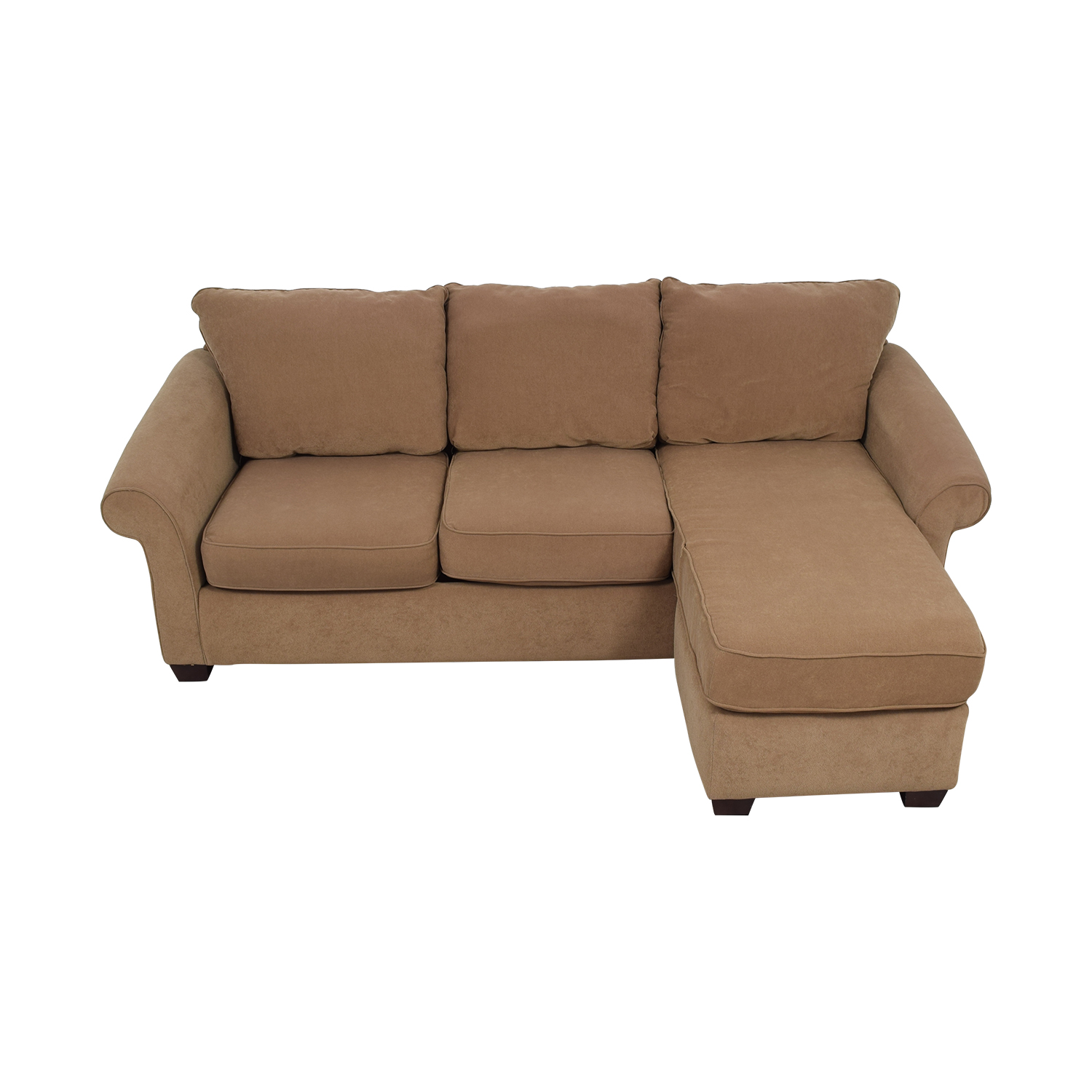 Costco Costco Brown Chaise Sectional dimensions