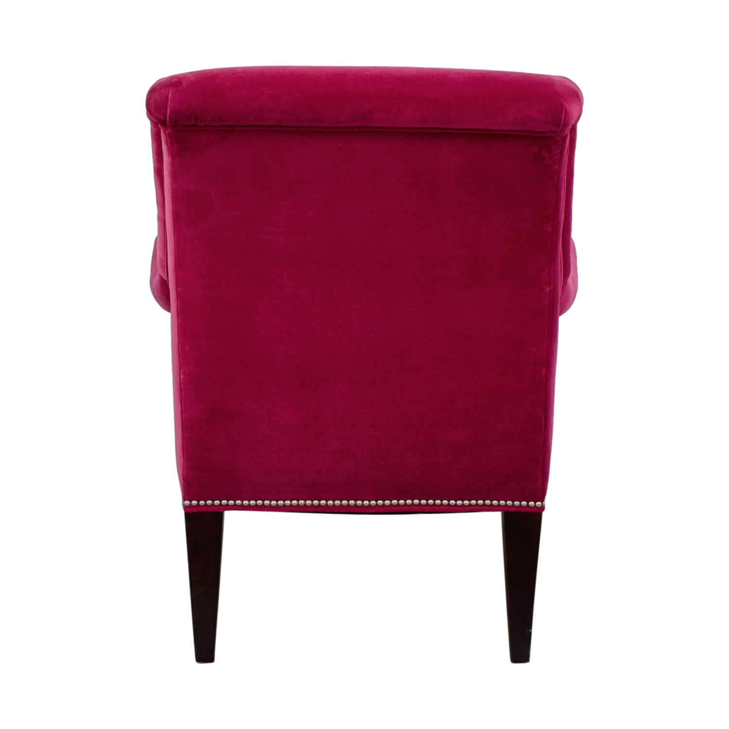 buy Crate & Barrel Pink Velvet Nailhead Accent Chair Crate & Barrel Sofas