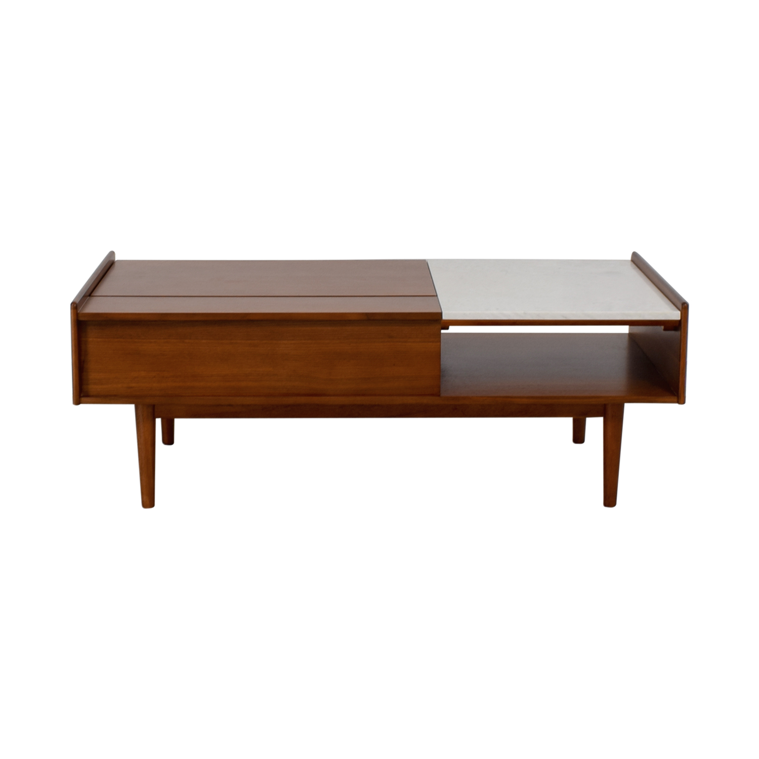 Pop Up Coffee Table.49 Off West Elm West Elm Mid Century Pop Up Walnut And Marble Coffee Table Tables