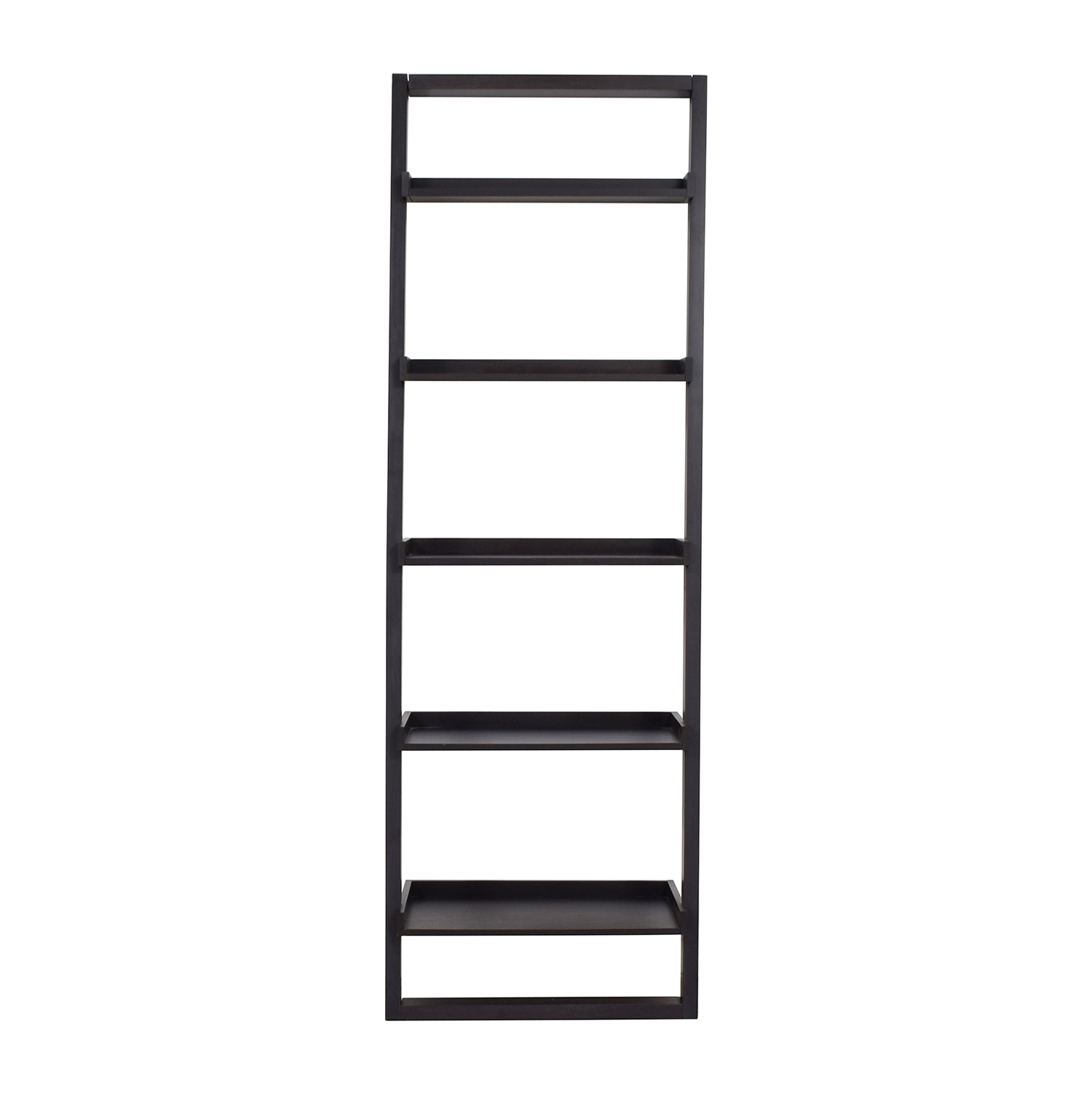 Crate & Barrel Crate & Barrel Black Leaning Bookcase for sale