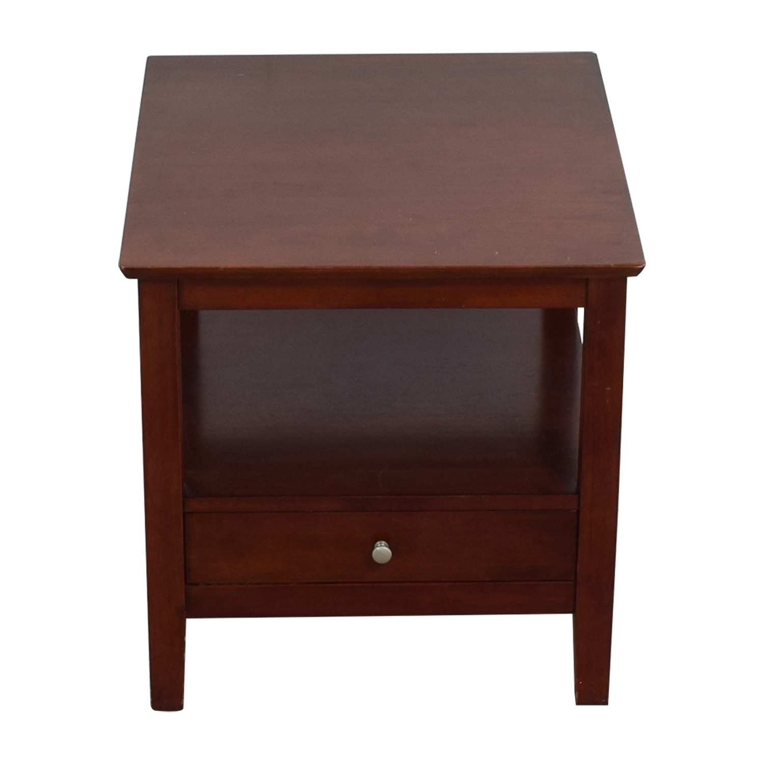 Solid Wood End Table with Drawer dimensions