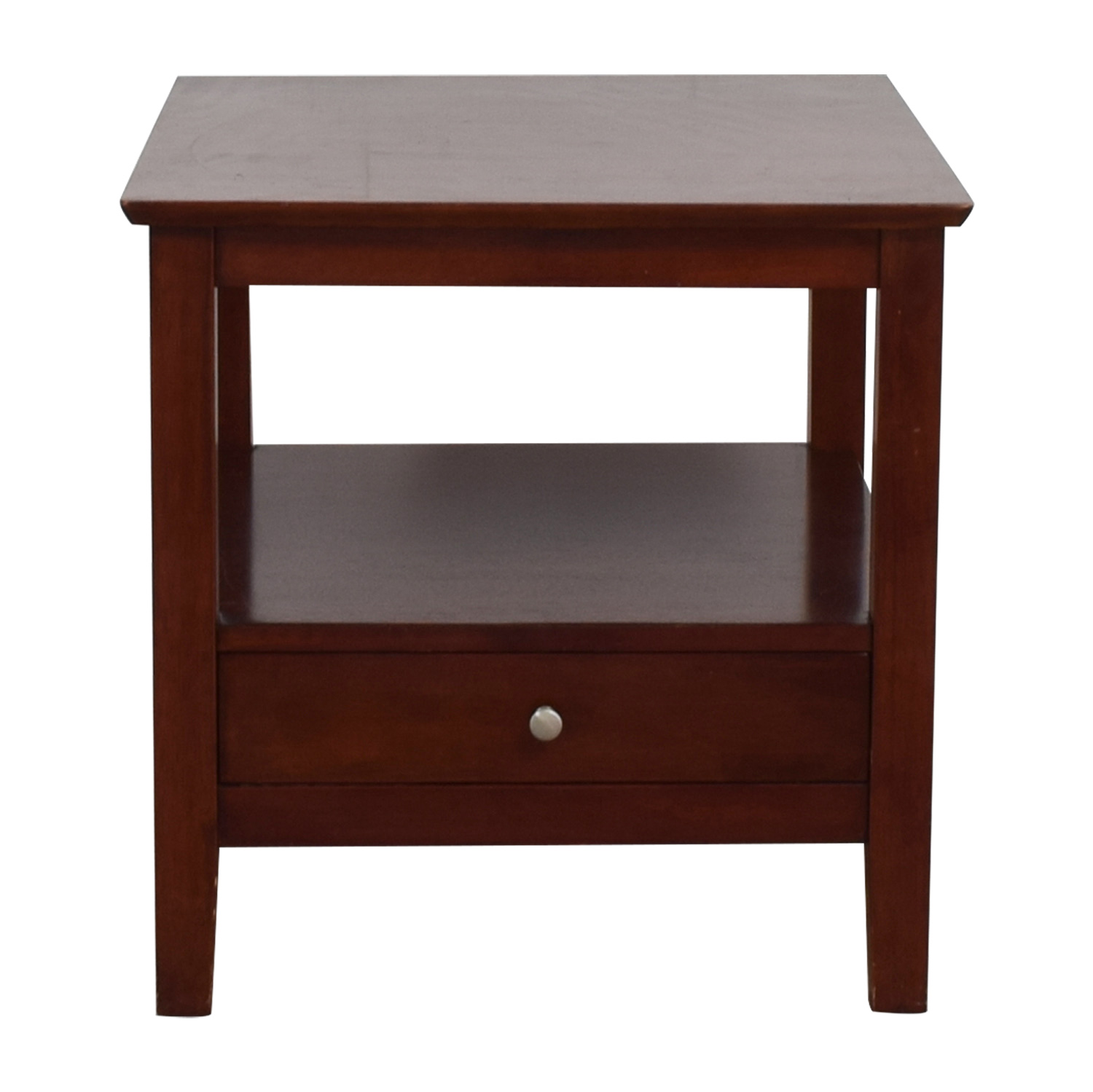 Solid Wood End Table with Drawer End Tables