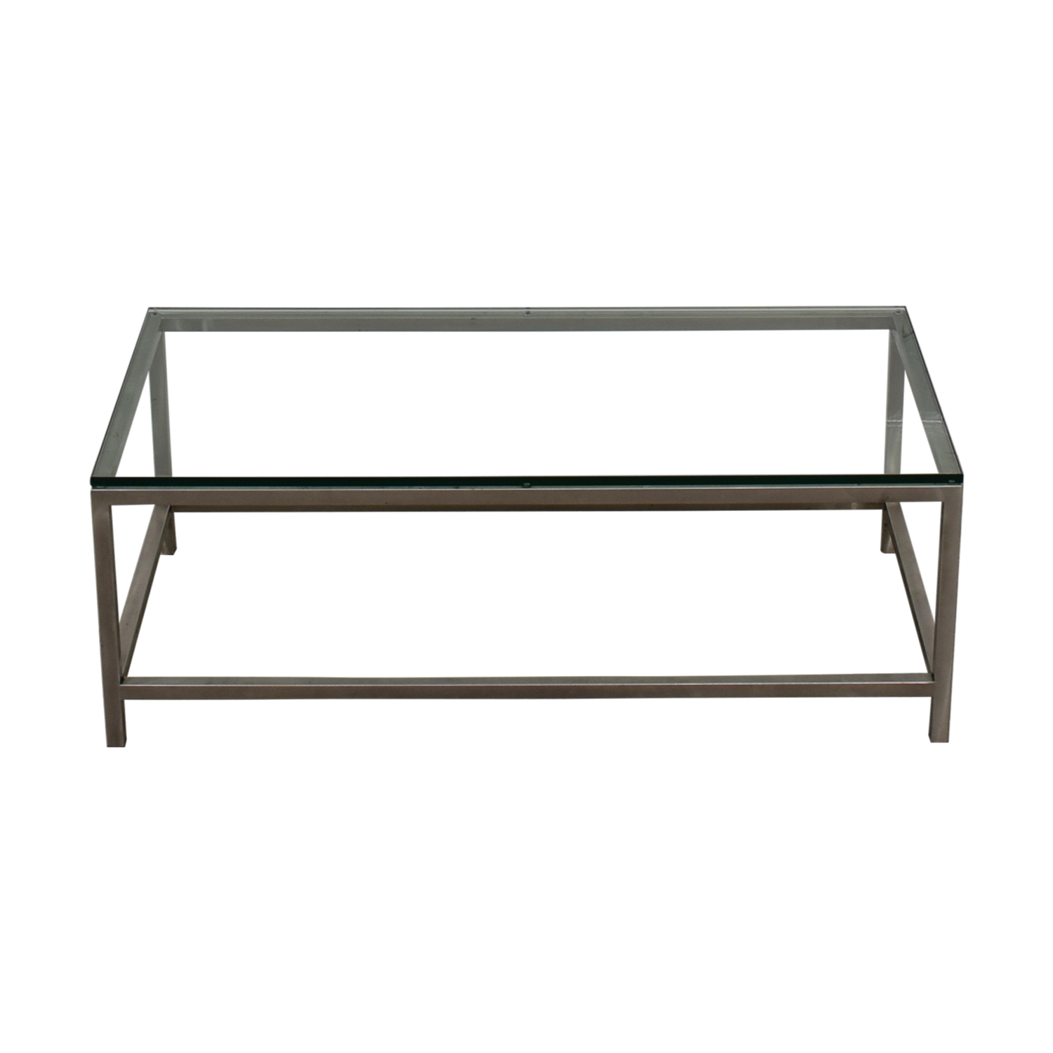 Crate & Barrel Crate & Barrel Glass and Chrome Coffee table discount