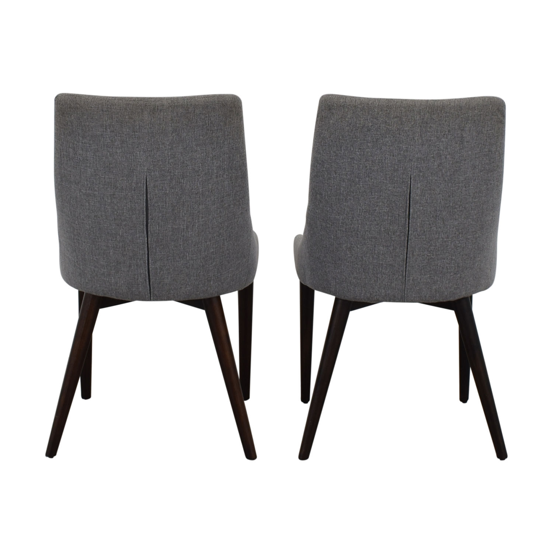 buy iNSPIRE Q Modern iNSPIRE Q Modern Sasha Grey Upholstered Tapered Leg Dining Chairs online