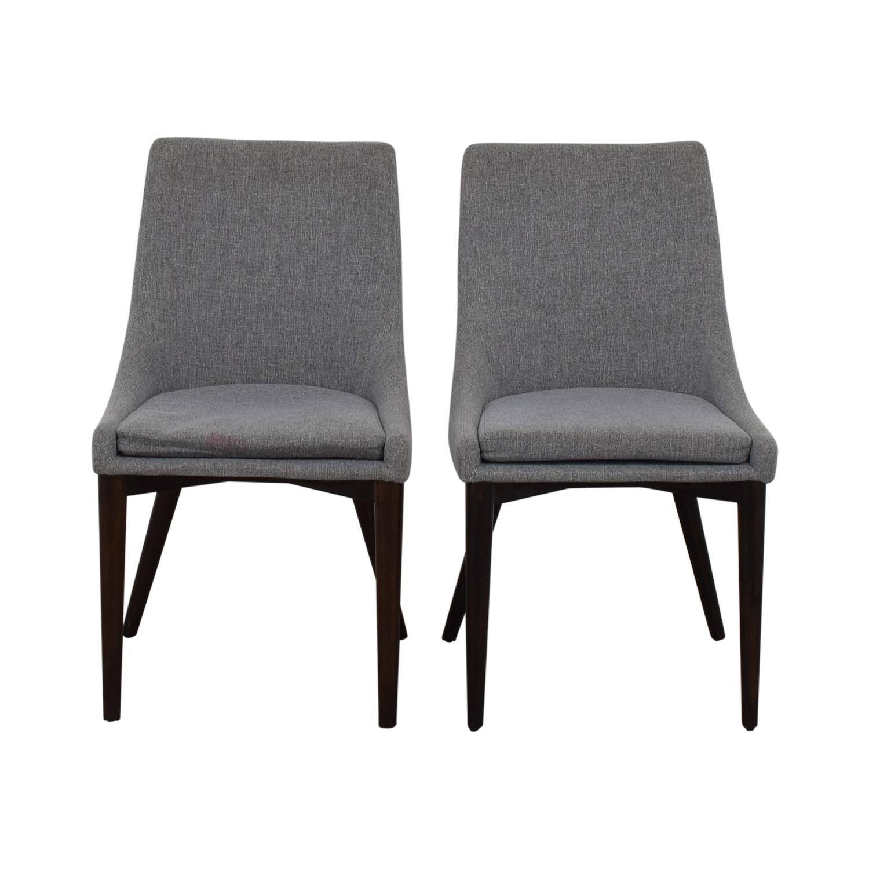 iNSPIRE Q Modern iNSPIRE Q Modern Sasha Grey Upholstered Tapered Leg Dining Chairs second hand