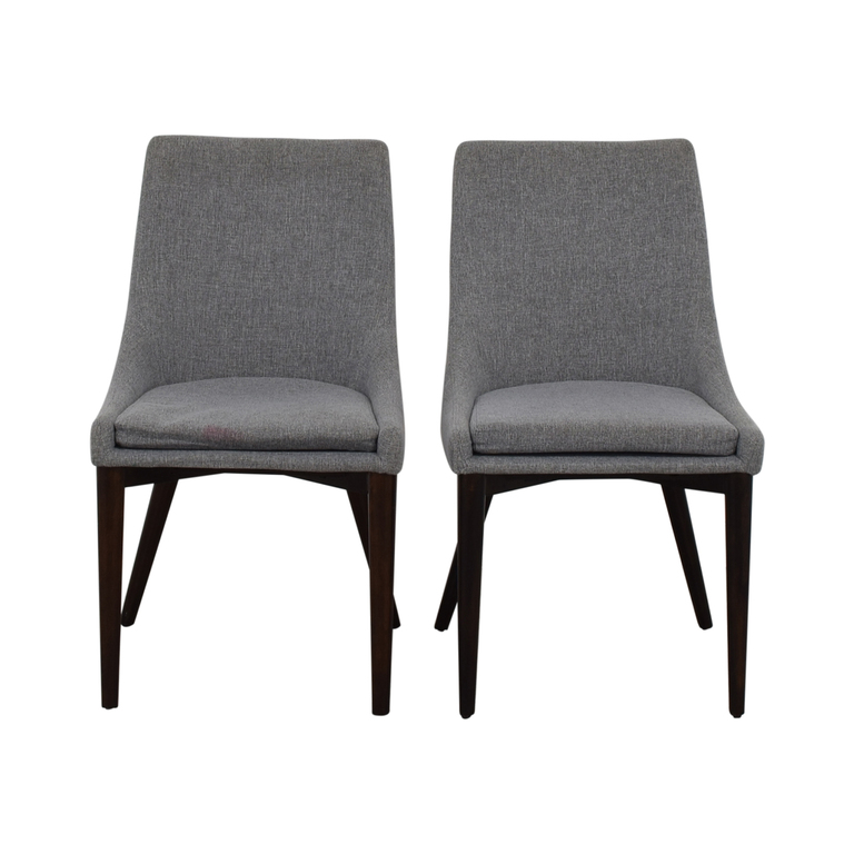 iNSPIRE Q Modern iNSPIRE Q Modern Sasha Grey Upholstered Tapered Leg Dining Chairs dimensions