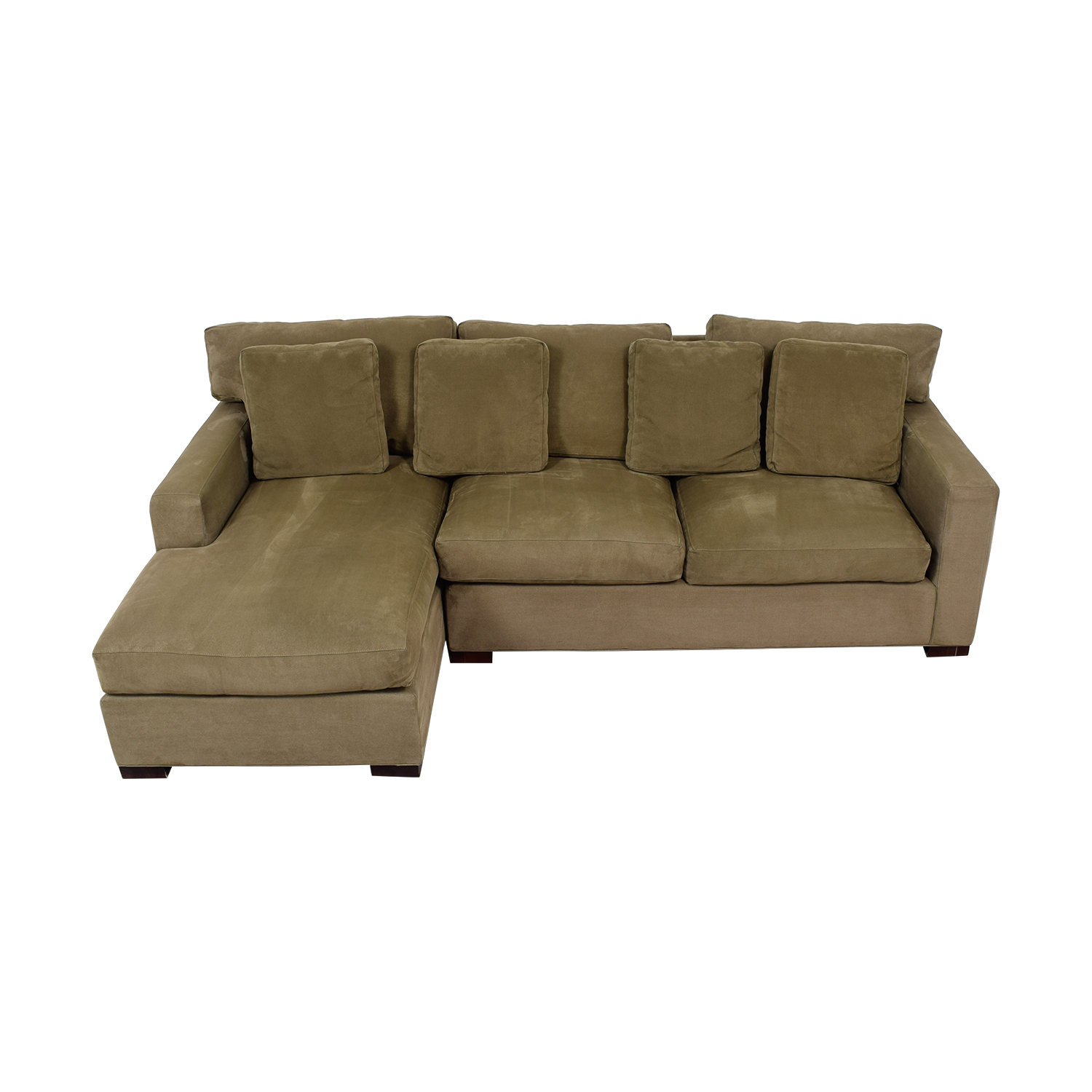 buy Crate & Barrel Axis II Green Chaise Sectional Crate & Barrel Sectionals