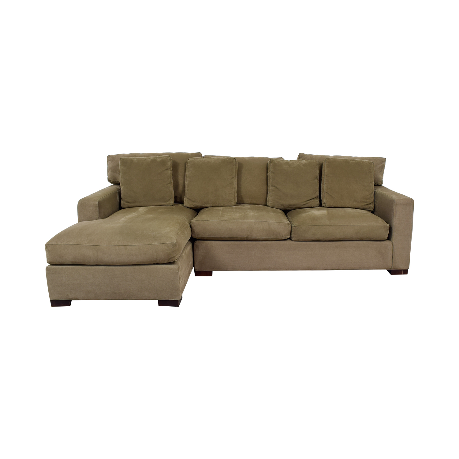 Crate & Barrel Crate & Barrel Axis II Green Chaise Sectional green
