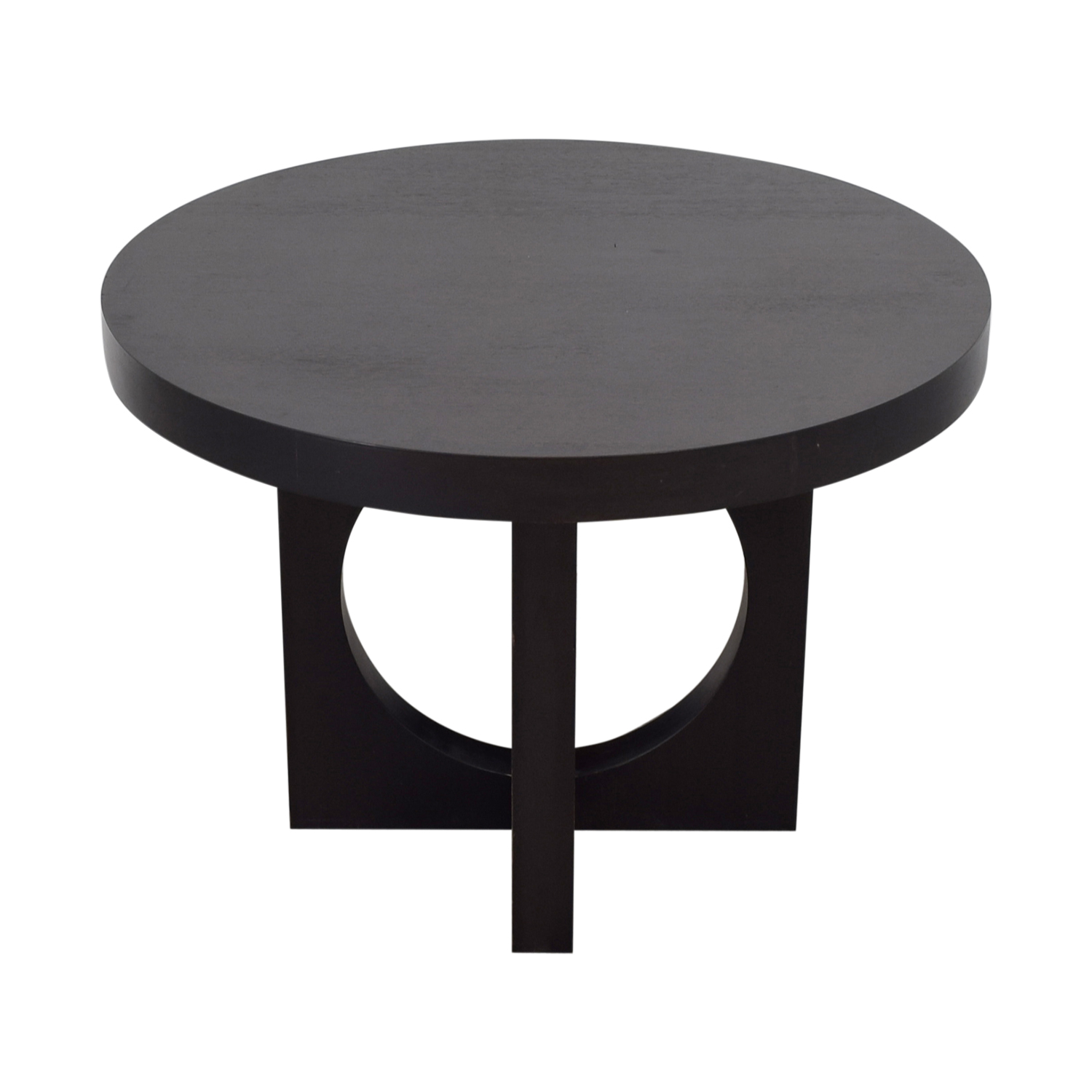 West Elm Black Round Dining Table sale