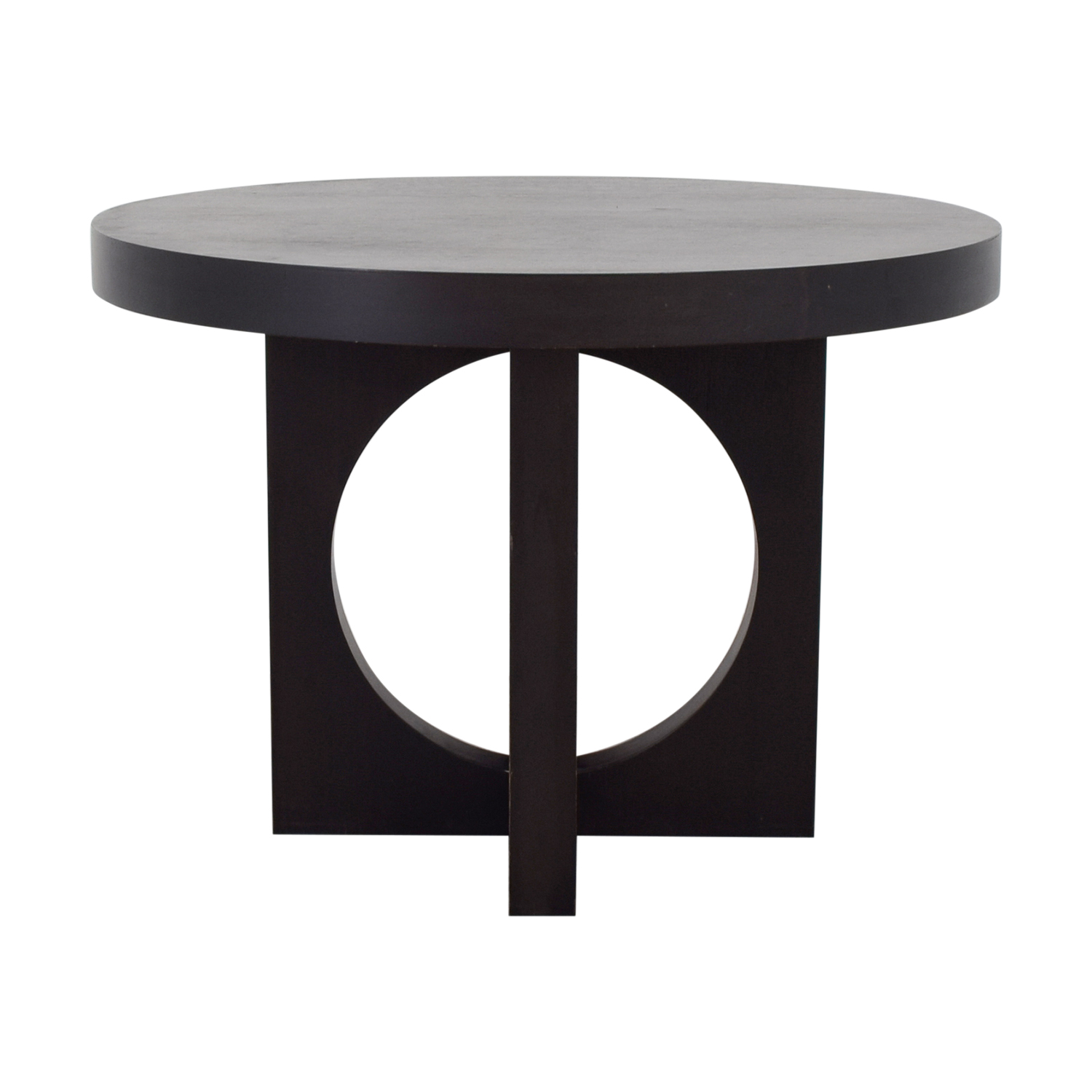 87% OFF   West Elm West Elm Black Round Dining Table / Tables