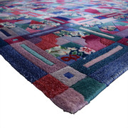 ABC Carpet & Home ABC Carpet & Home Square Wool Patchwork Rug