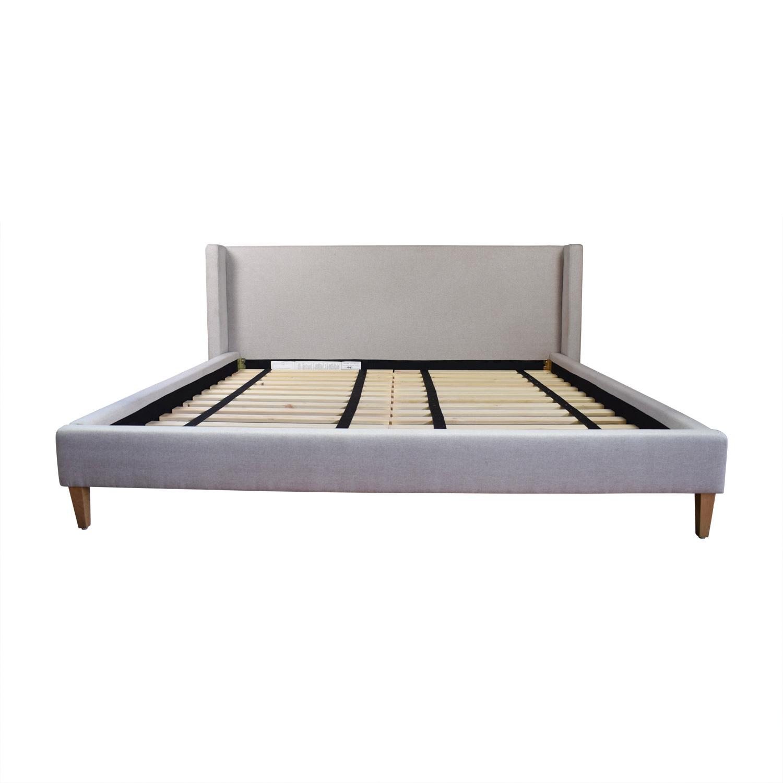 85 Off Oliver Dune Platform King Bed Frame Beds