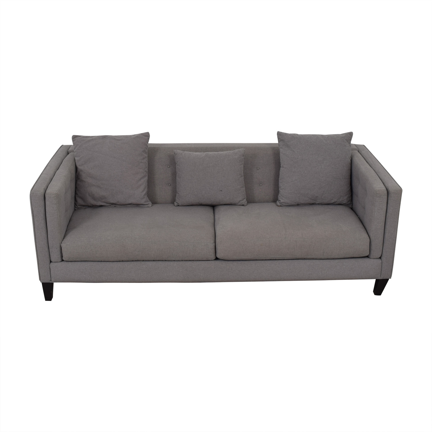 Jonathan Lewis Jonathan Lewis Grey Two-Cushion Couch discount