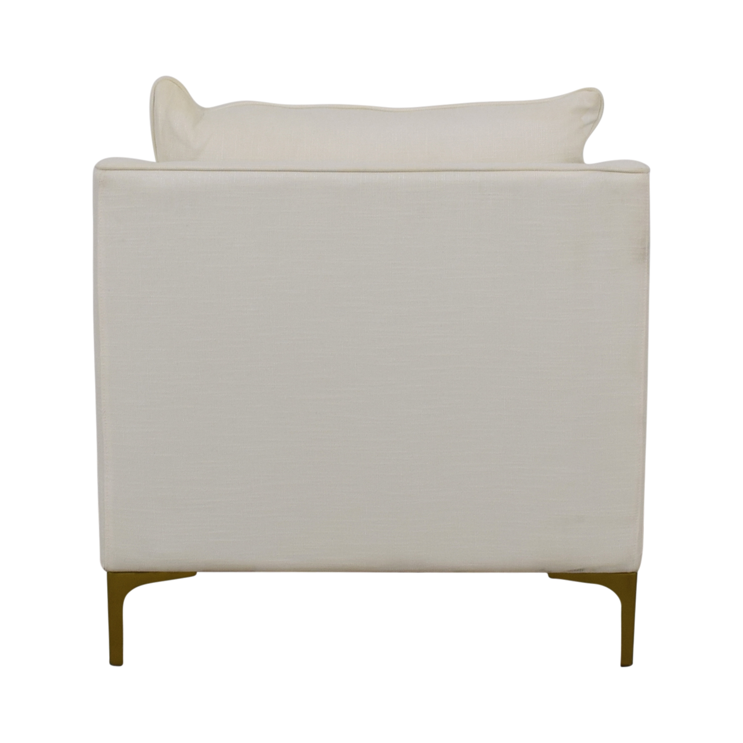 Caitlin Petite White Accent Chair second hand