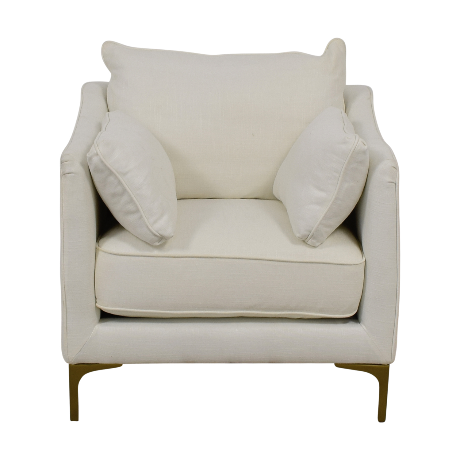 Caitlin Petite White Accent Chair