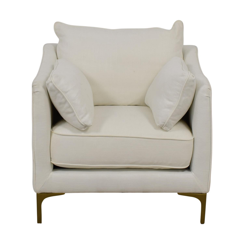 shop Caitlin Petite White Accent Chair