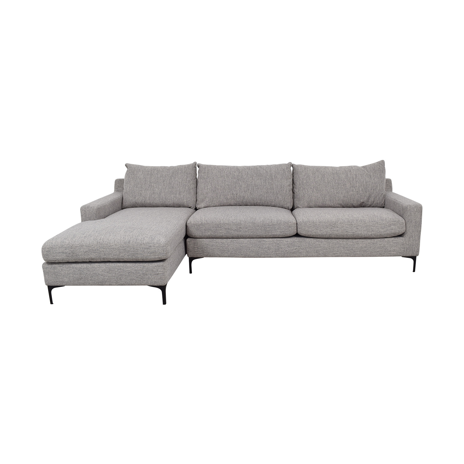 64% OFF - Sloan Grey Left Chaise Sectional / Sofas