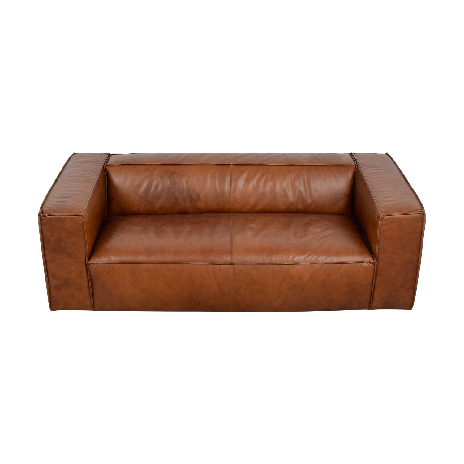 ... Cognac Leather High Arm Sofa / Classic Sofas ...