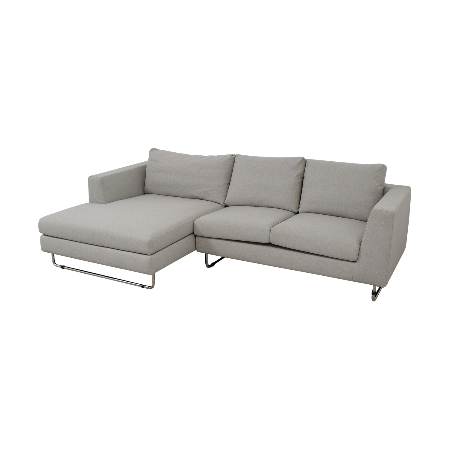 buy Asher Grey Left Chaise Sectional  Sofas