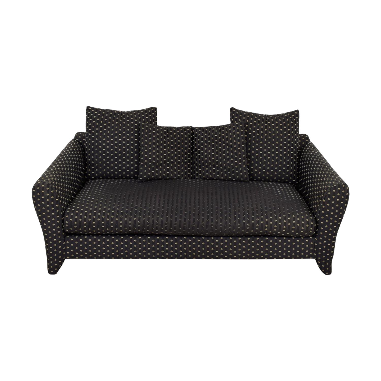 Bernhardt Bernhardt Black and Grey Shell Pattern Single Cushion Sofa second hand