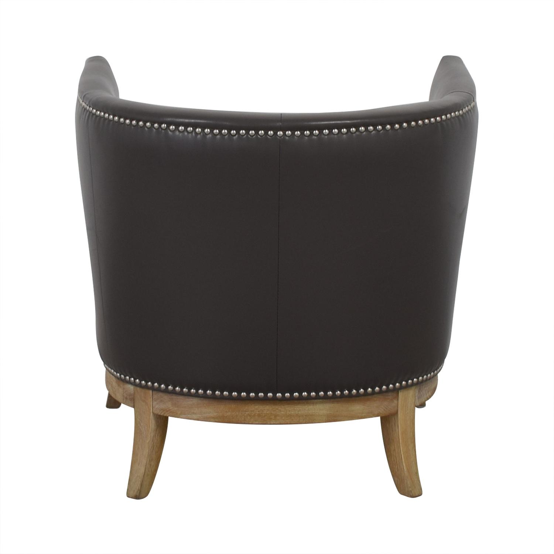 shop Sunpan Mondern Home Sunpan Mondern Home Napoli Grey Leather Nailhead Accent Chair online