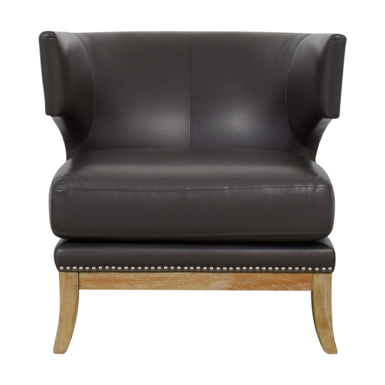 Sunpan Modern Home Sunpan Modern Home Napoli Grey Leather Nailhead Chair  Dimensions ...