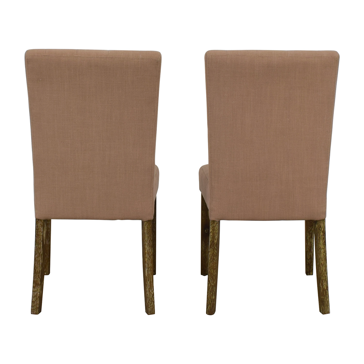 Classic Concepts Classic Concepts Tufted Beige Linen Dining Chairs for sale