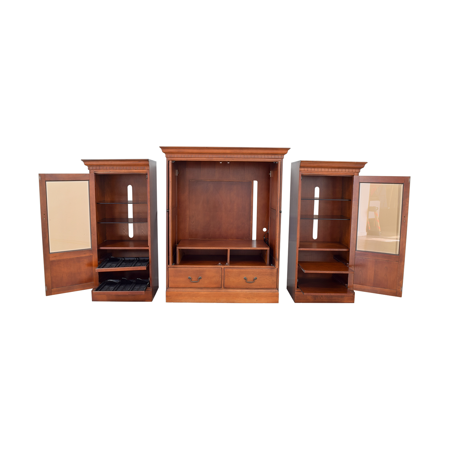buy Hooker Wood Entertainment Media Wall Unit Hooker Storage
