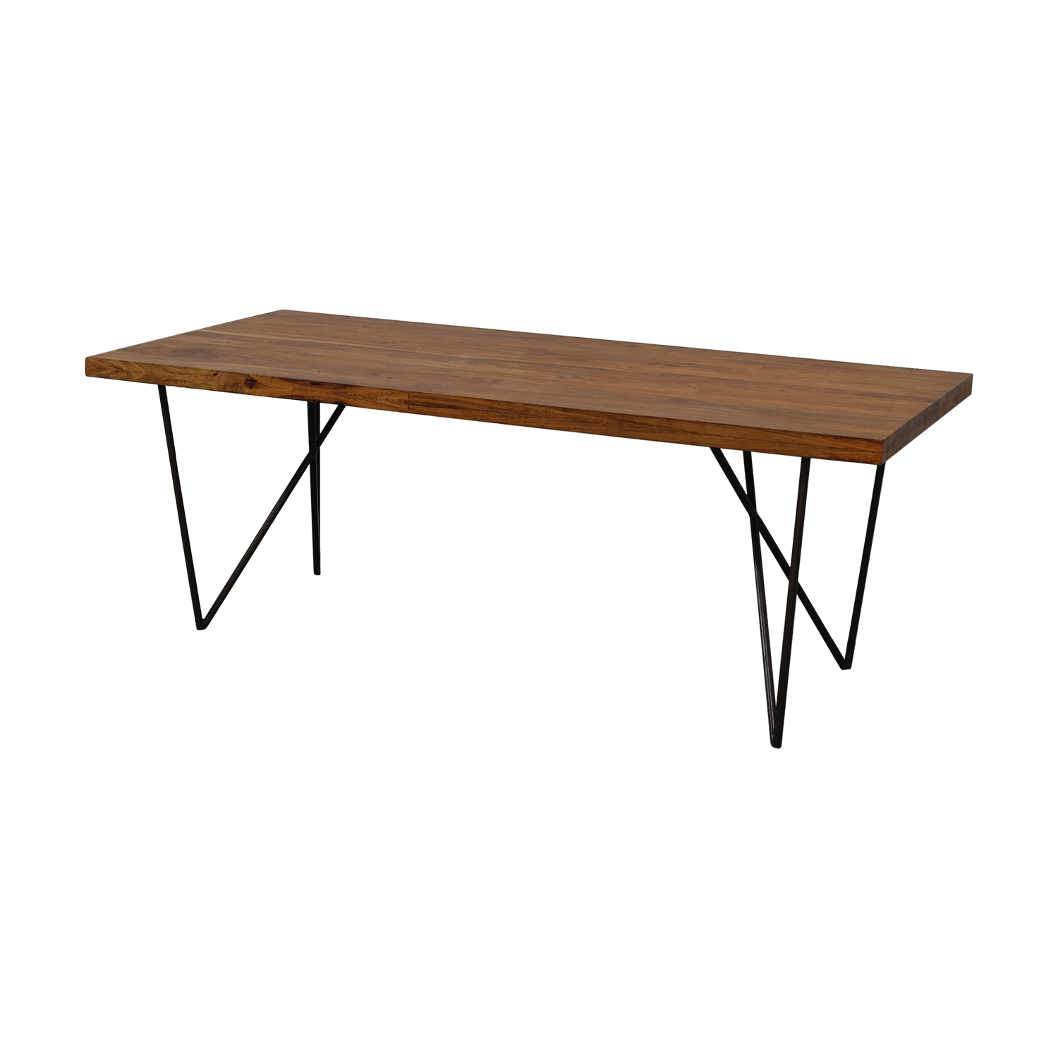 CB2 CB2 Dylan Wood Dining Table brown
