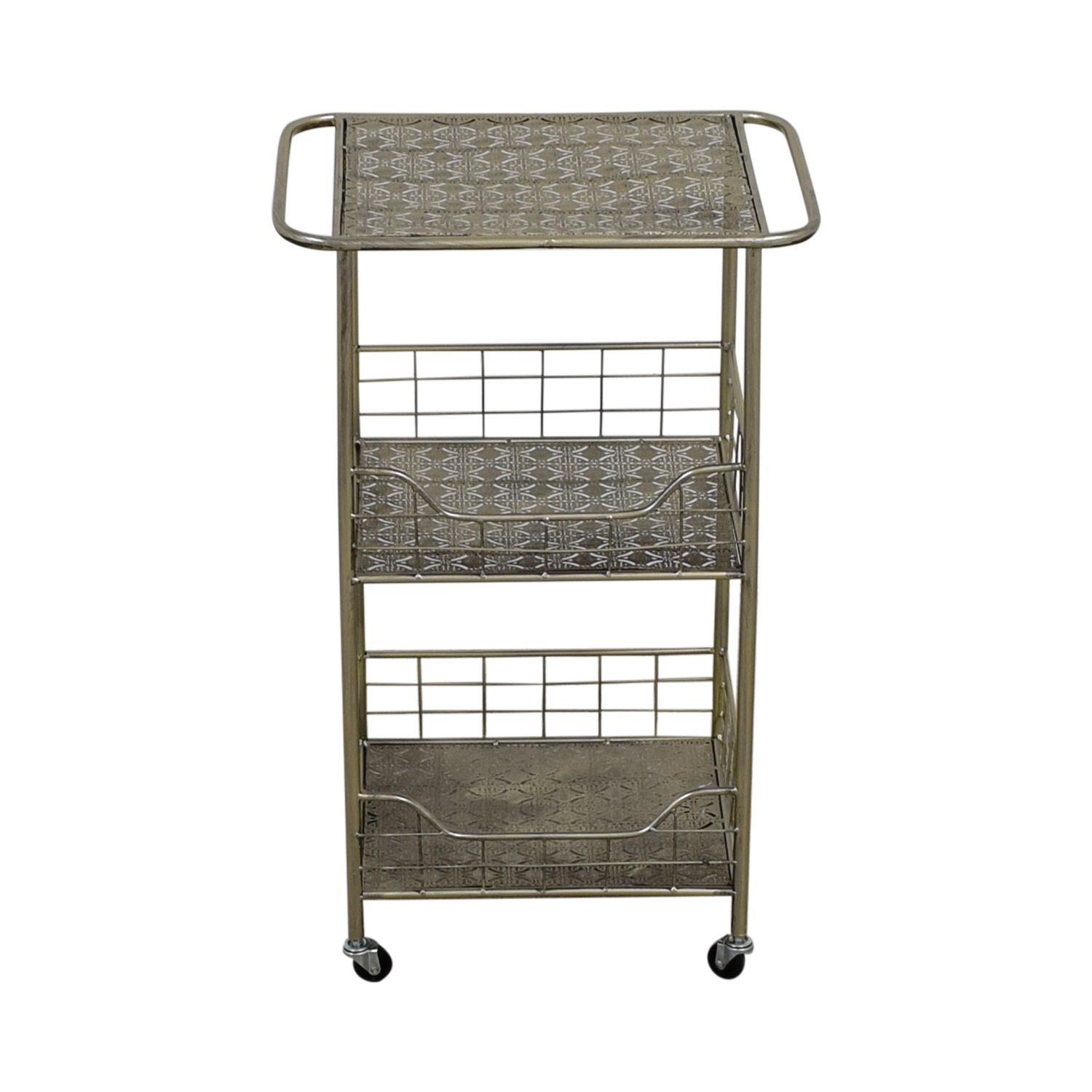 buy ABC Carpet & Home Silver Plated Kitchen Cart ABC Carpet & Home