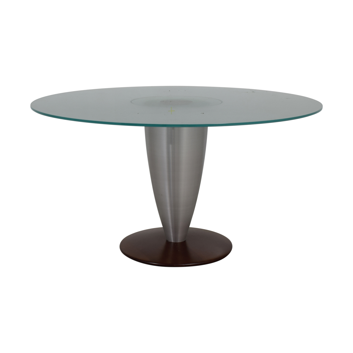 Design Studio Round Glass Dining Table nj