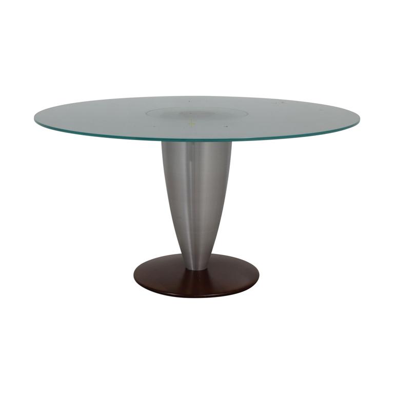 Design Studio Round Glass Dining Table