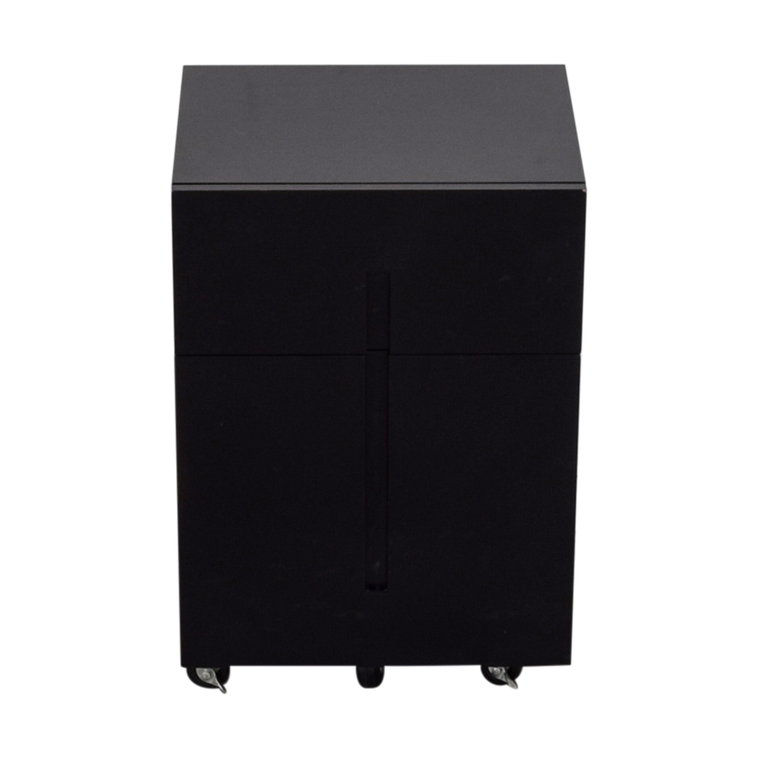 Office Max Office Max Two-Drawer Black File Cabinet Filing & Bins