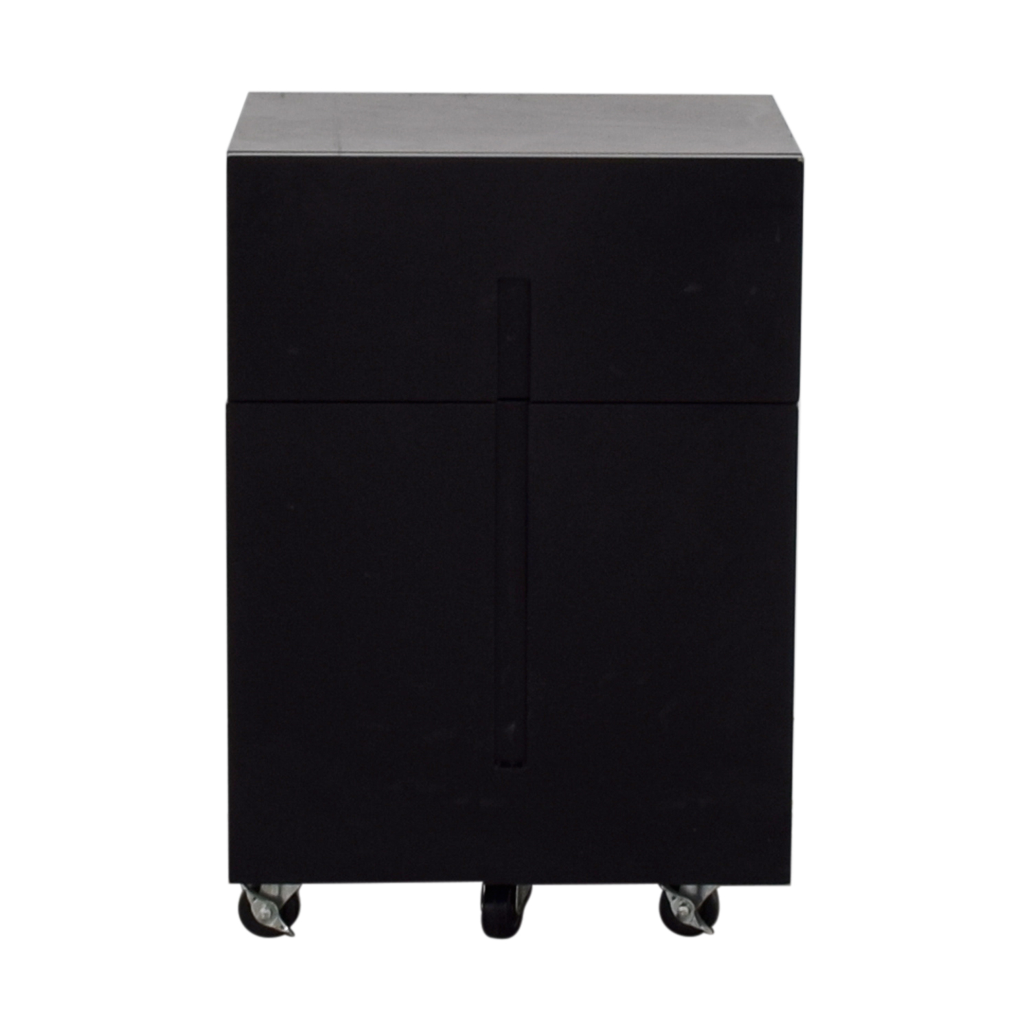 Office Max Office Max Two-Drawer Black File Cabinet dimensions