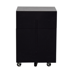 Office Max Office Max Two-Drawer Black File Cabinet nyc