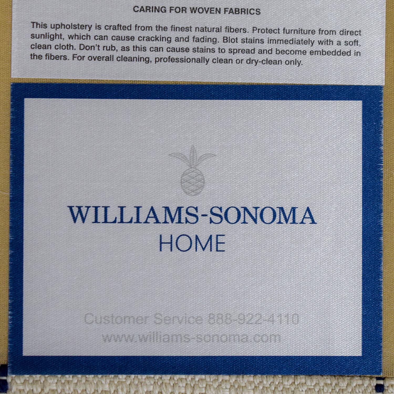 William Sonoma William Sonoma Presidio White and Blue Settee used