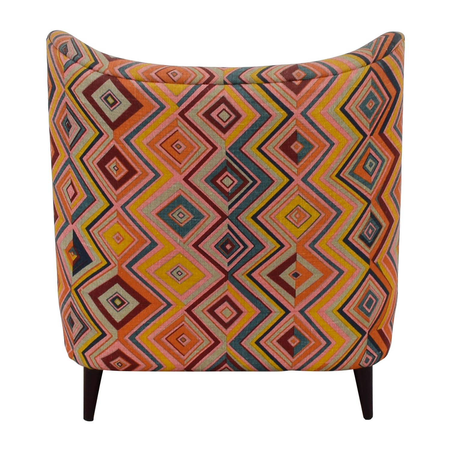 Manor and Mews Manor and Mews Multi Colored Upholstered Diamond Chair second hand