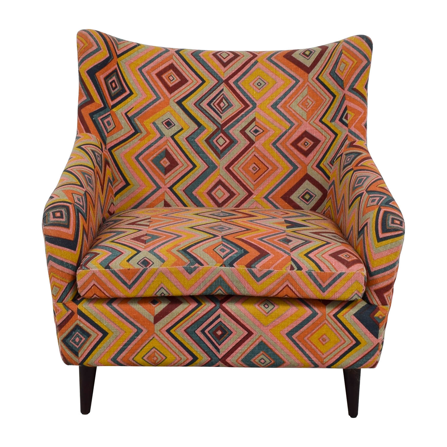 Manor and Mews Multi Colored Upholstered Diamond Chair sale