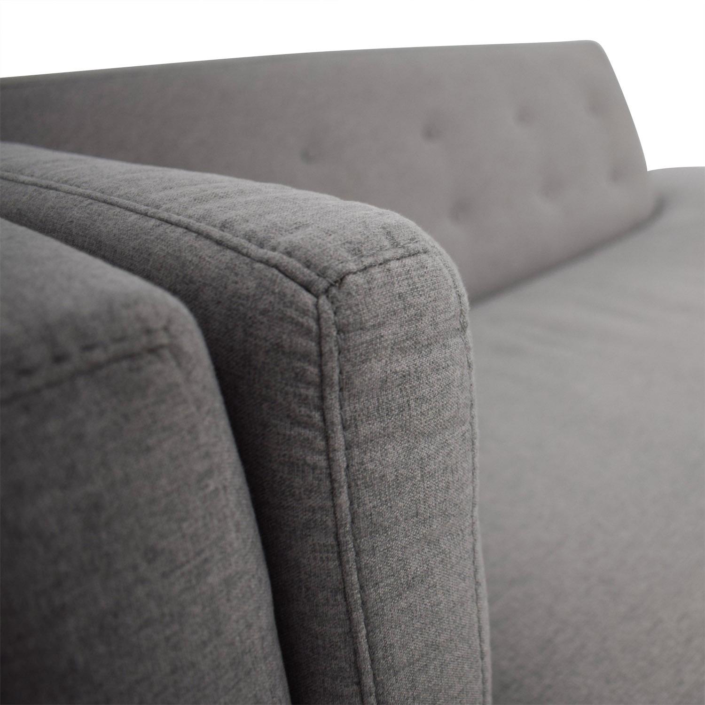 Macy's Macy's Braylei Grey Chaise Chaises